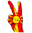 Peace Sign of the Macedonian flag vector image vector image