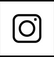 photo camera icon in flat design on white vector image vector image