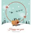 Reindeer with copyspace vector image vector image