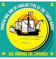 Sailboat Vessel a Native of Spanish Nao vector image vector image