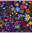 seamless floral pattern colorful wallpaper vector image vector image
