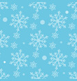seamless pattern with snowflakes winter background vector image vector image