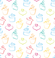 Seamless Wallpaper of Sketch Colorful Gift Boxes vector image