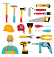 set collection icons of builder equipment vector image vector image