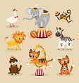 Set of cute circus animals vector image vector image
