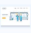 smart farm website landing page design vector image