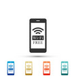 smartphone with free wi-fi wireless connection vector image vector image