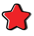 star with shadow icon red symbol sign vector image
