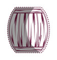 sticker line wood barrel of wine beverage tasty vector image