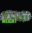 the easy side of weight loss text background word vector image vector image