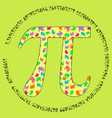 the pi symbol in the form of a vector image vector image