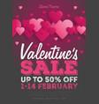 valentines day sale vintage flyer background vector image vector image