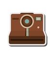 vintage instant camera icon vector image