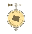 Vintage label Oregon vector image vector image