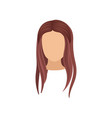 woman s head with long straight hair stylish vector image vector image