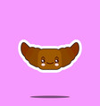 funny cute croissant kawaii drawn with a smile vector image