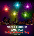 Card for Americas independence day vector image