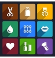 Cosmetics Perfume flat Icons Set 32 vector image