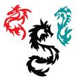 dragons pattern Tribal Tattoo vector image