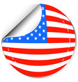 america flag in sticker design vector image
