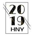2019 happy new year calendar cover template vector image