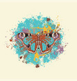 a beautiful peacock butterfly with abstract spots vector image