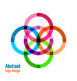 abstract circle icon vector image