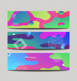 abstract fun banners with modern liquid splashes vector image vector image