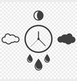 abstract icon of time and weather changes around vector image vector image