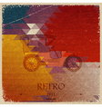 Abstract vintage background with retro automobile vector image vector image