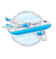 airlines air travel emblem or with plane airliner vector image