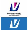 Alphabetical Logo Design Concepts Letter V vector image vector image