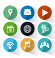 apps and circles icon set vector image