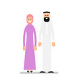 arab couple arabic man and woman in traditional vector image