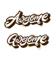 Awesome letterings types print vector image vector image