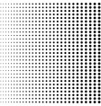 black halftone dots black dots halftone on white vector image vector image