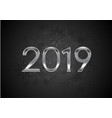 black new year 2019 abstract background vector image vector image
