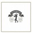 bodybuilder man logo or badge vector image