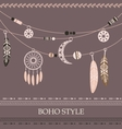 boho style background with arrows beads vector image vector image