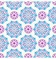 bright mandala pattern in pink-white and yellow vector image vector image