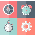 business speed flat icons vector image vector image
