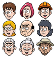 cartoon face vector image