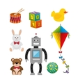 children toys set icons vector image vector image