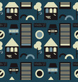 city road sings seamless pattern vector image vector image