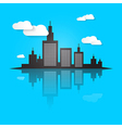 City Scape on Blue Background vector image vector image