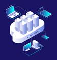 cloud computing concept computing network vector image