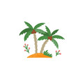 coconut trees isolated on a white background vector image