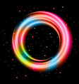 colorful light shining circle banner vector image vector image