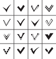 Confirm signs and tick icons set vector image vector image