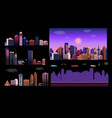 constructor for night city background easy to vector image vector image